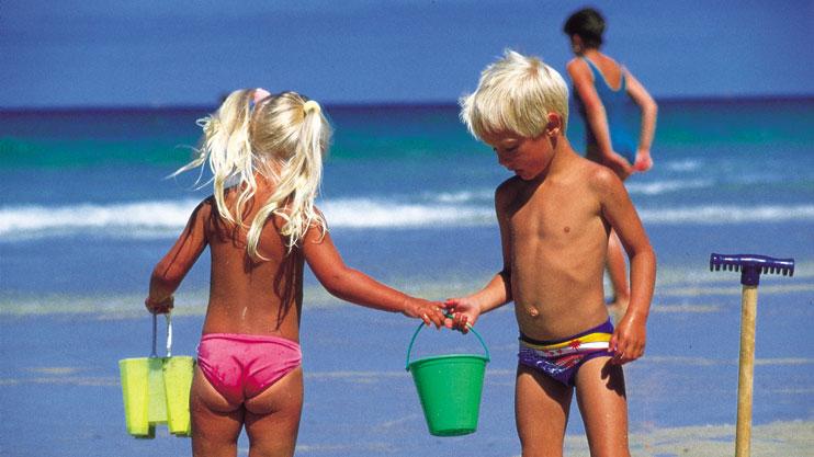 family beach holiday fun Newquay