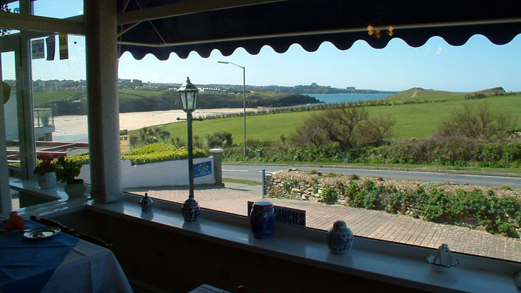 Rolling Waves Hotel dining room view Porth Newquay